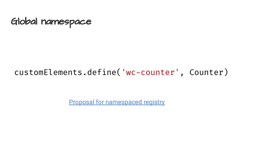 Global namespace Proposal for namespaced regist...