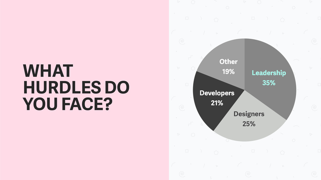 Other 19% Developers 21% Designers 25% Leadersh...