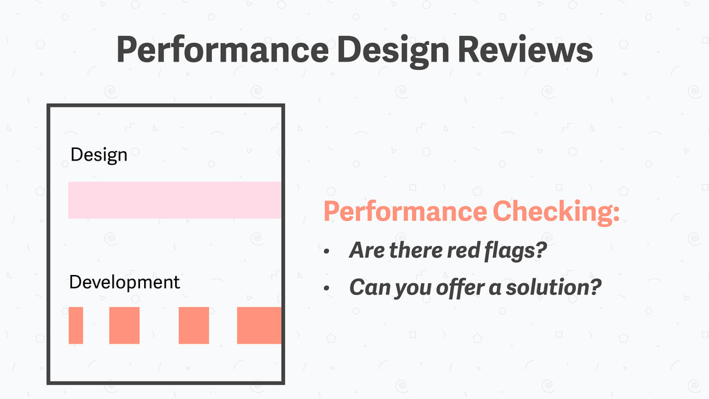 Design Development Performance Checking: • Are ...