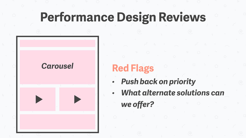 Performance Design Reviews Carousel Red Flags •...