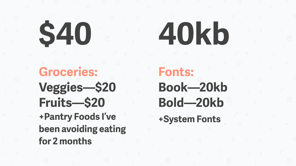 40kb Fonts: Book—20kb Bold—20kb +System Fonts G...