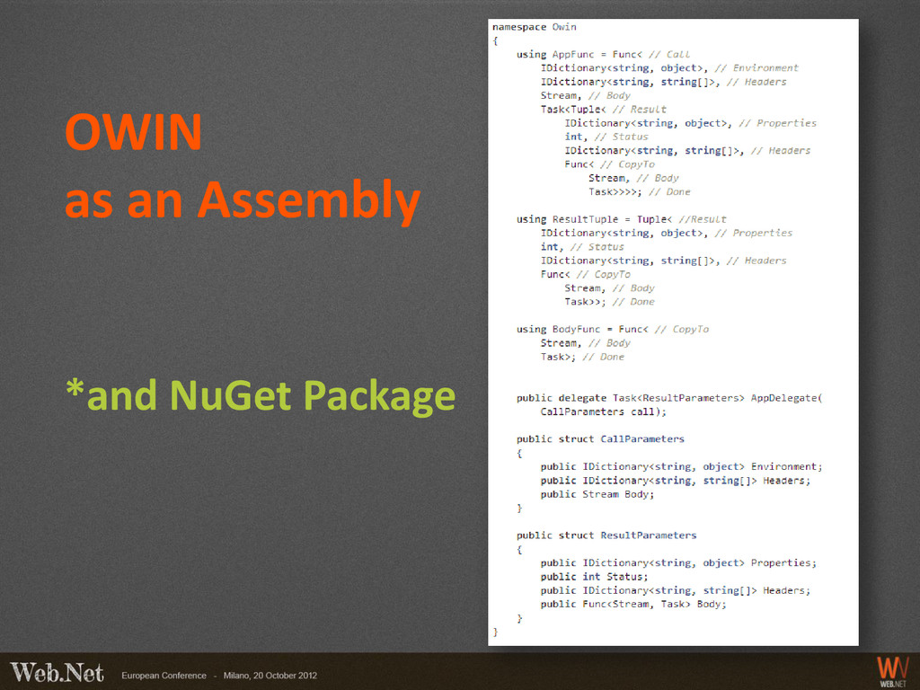 OWIN as an Assembly *and NuGet Package
