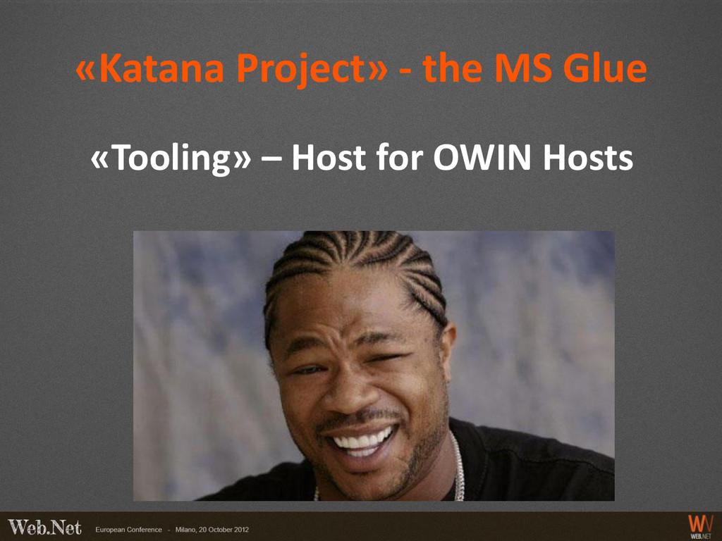 «Katana Project» - the MS Glue «Tooling» – Host...