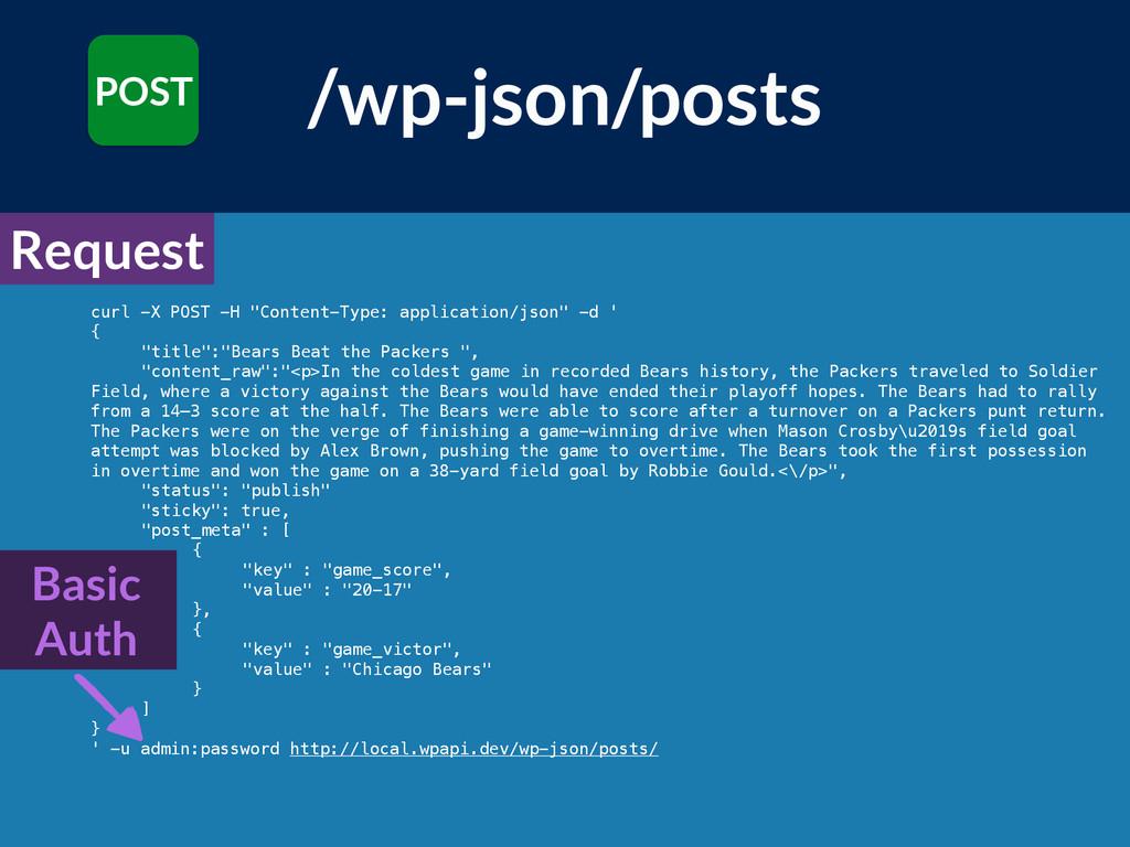 "curl -X POST -H ""Content-Type: application/json..."