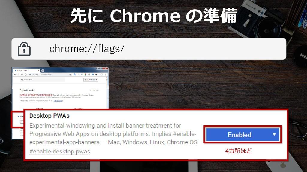 38 先に Chrome の準備 chrome://flags/ 4カ所ほど
