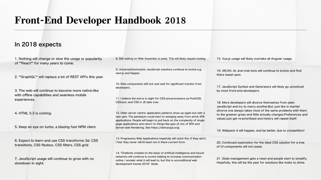 Front-End Developer Handbook 2018 *OFYQFD...
