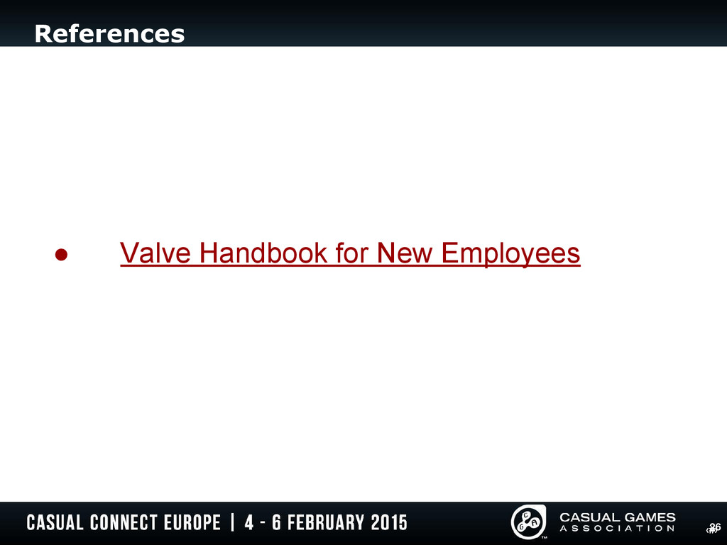 ‹#› References 26 ● Valve Handbook for New Empl...