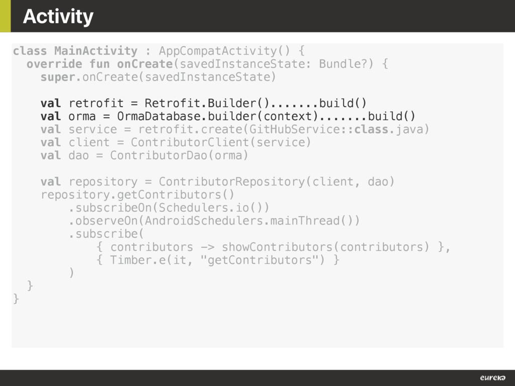 Activity class MainActivity : AppCompatActivity...