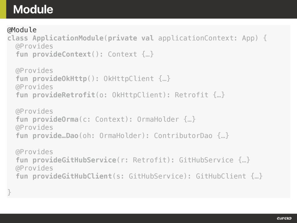 Module @Module class ApplicationModule(private ...