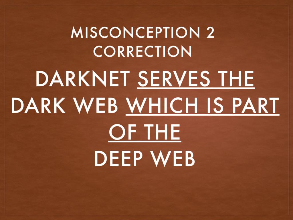 DARKNET SERVES THE DARK WEB WHICH IS PART OF TH...