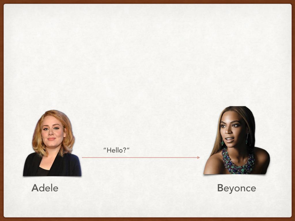 """""""Hello?"""" Adele Beyonce"""