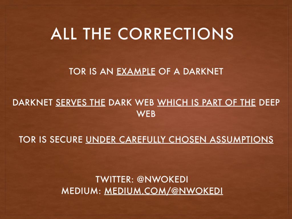 TOR IS SECURE UNDER CAREFULLY CHOSEN ASSUMPTION...