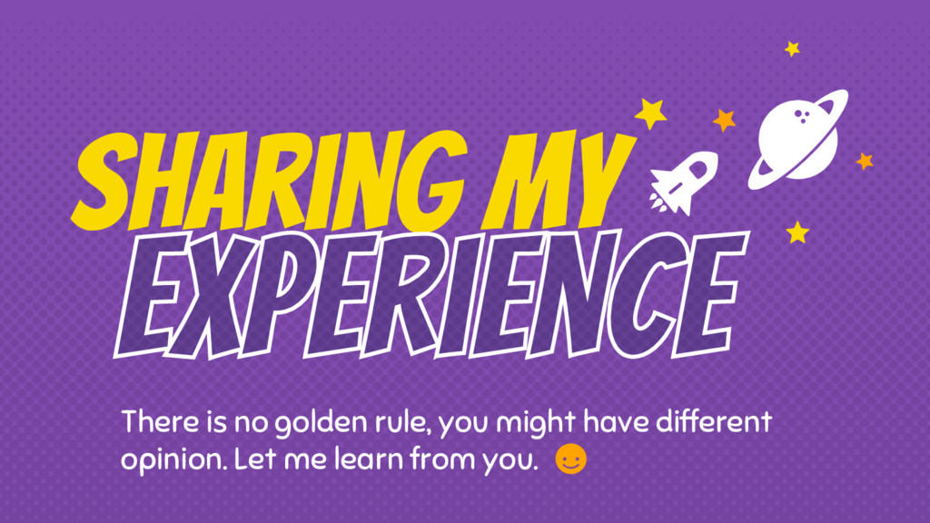 Sharing My There is no golden rule, you might h...