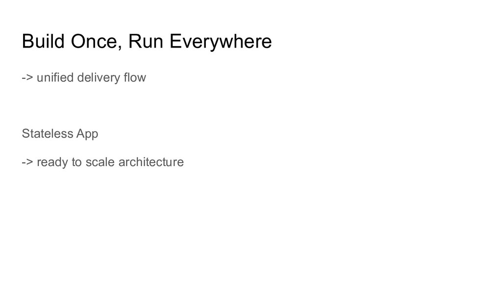 Build Once, Run Everywhere -> unified delivery ...