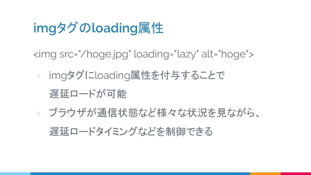 """imgタグのloading属性 <img src=""""/hoge.jpg"""" loading=""""l..."""