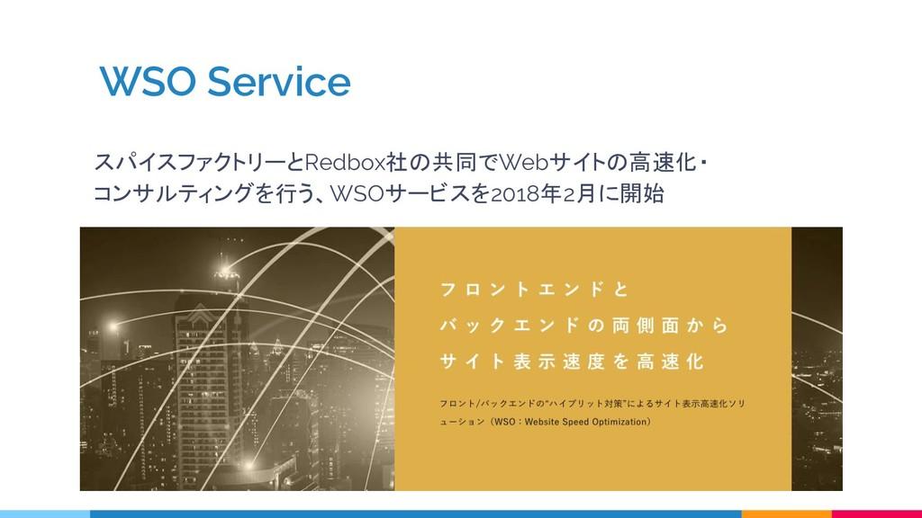WSO Service スパイスファクトリーとRedbox社の共同でWebサイトの高速化・ コ...