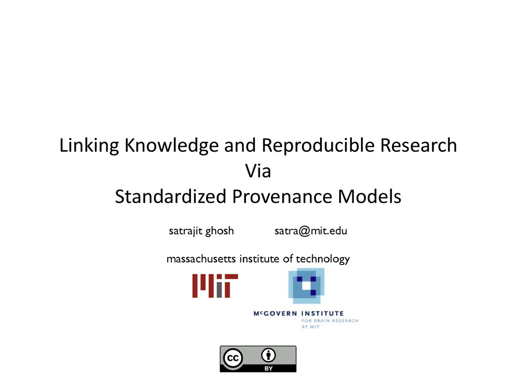 Linking Knowledge and Reproducible ...
