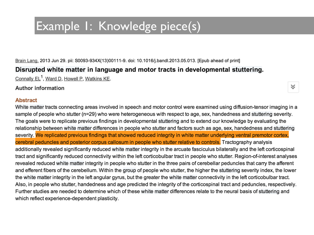 Example 1: Knowledge piece(s)