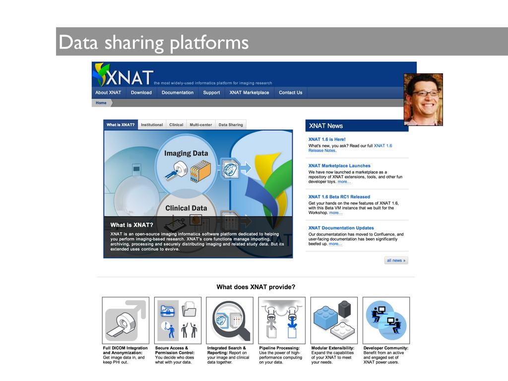 Data sharing platforms