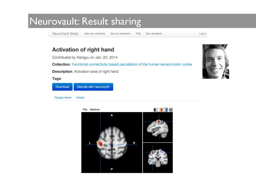 Neurovault: Result sharing