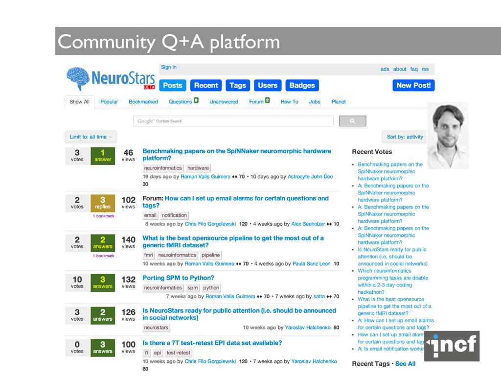 Community Q+A platform