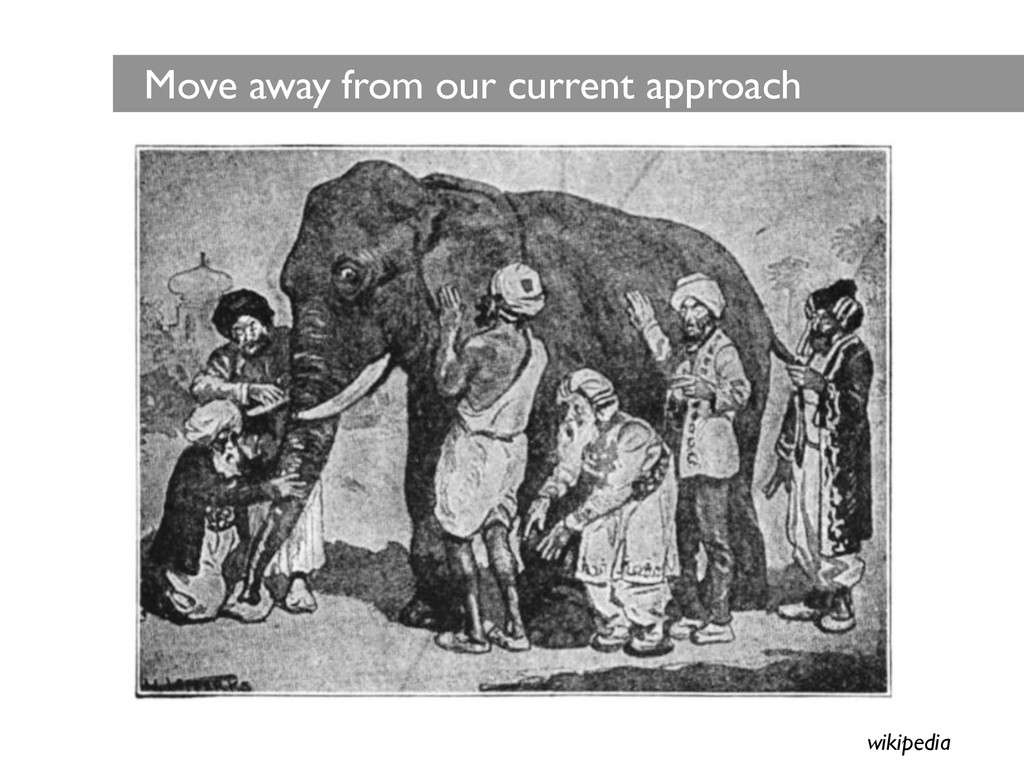 Move away from our current approach wikipedia