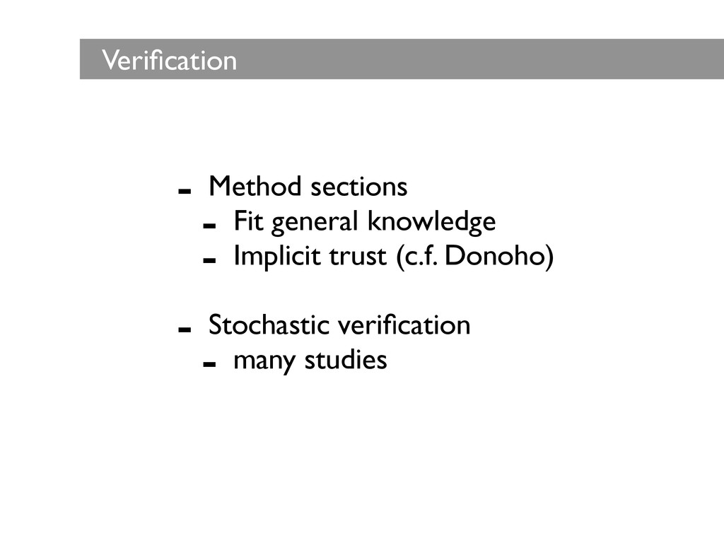 - Method sections  - Fit general knowledge ...