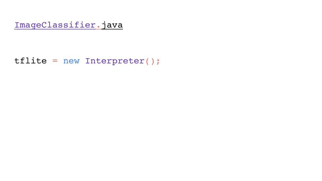 ImageClassifier.java model = loadModelFile(); ...