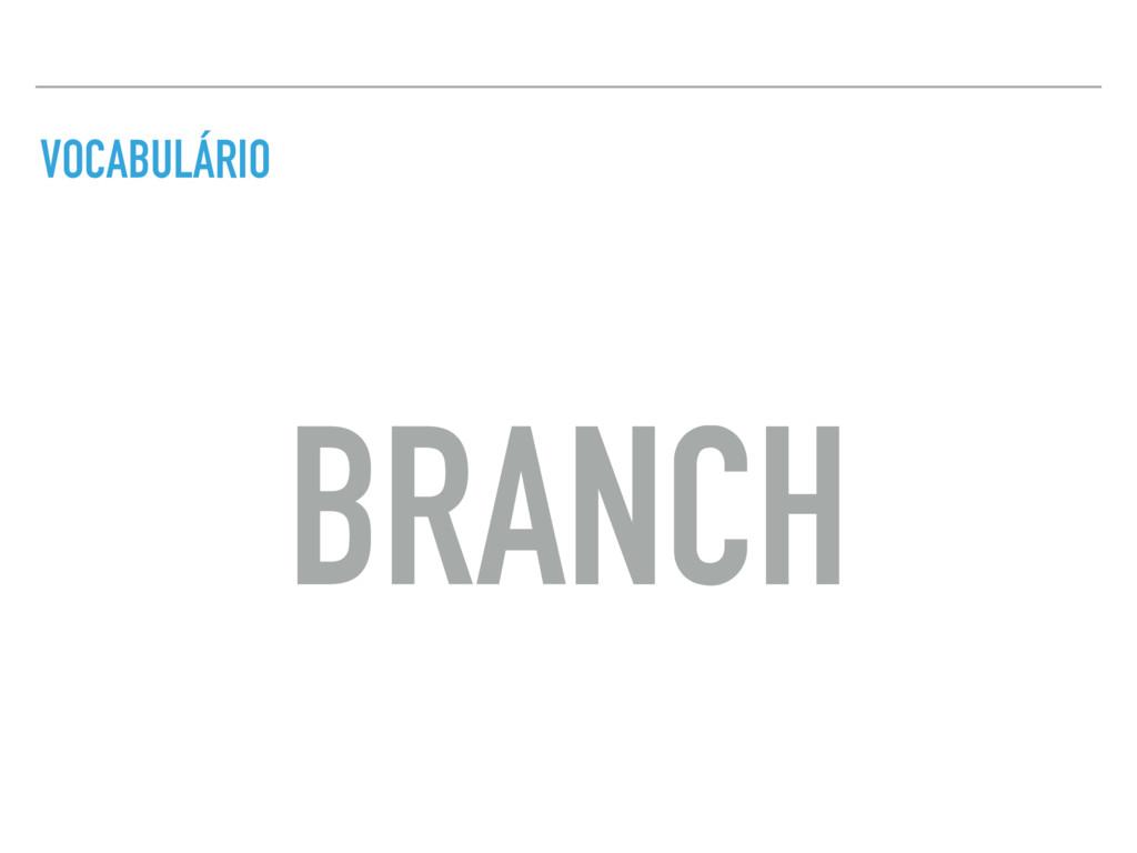 VOCABULÁRIO BRANCH