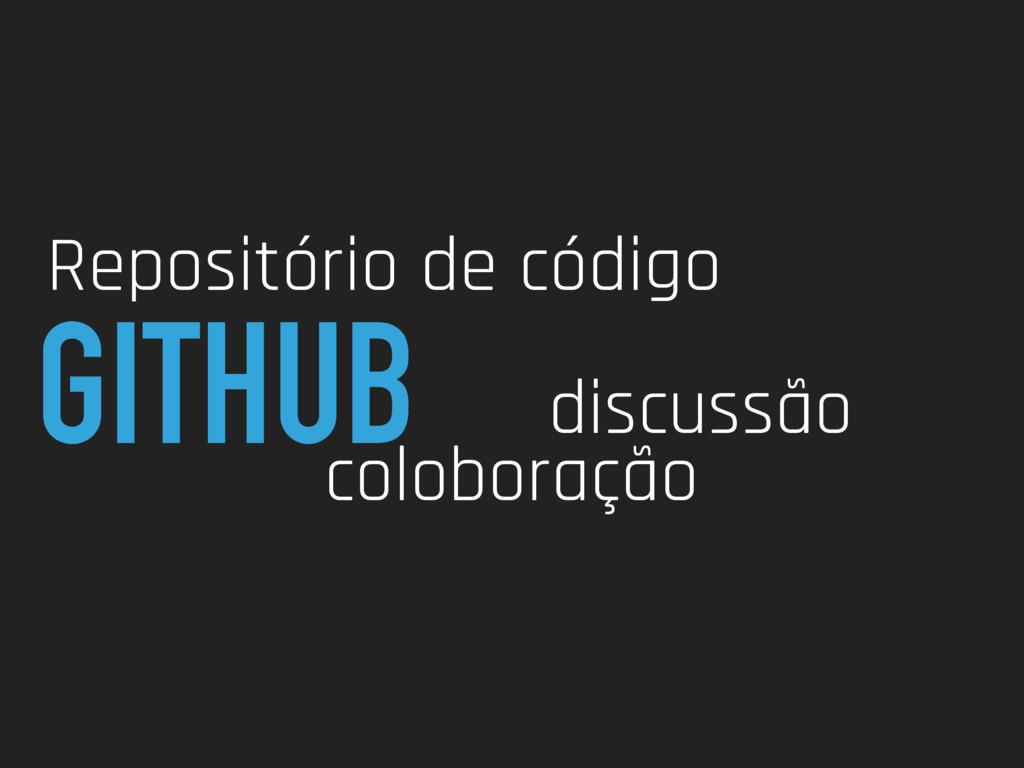 GITHUB Repositório de código coloboração discus...