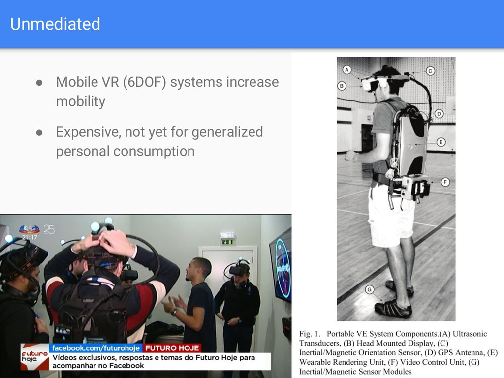 Unmediated ● Mobile VR (6DOF) systems increase ...