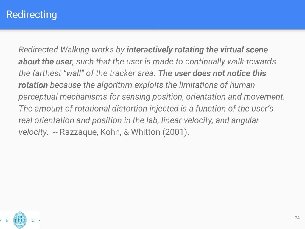 Redirecting Redirected Walking works by interac...