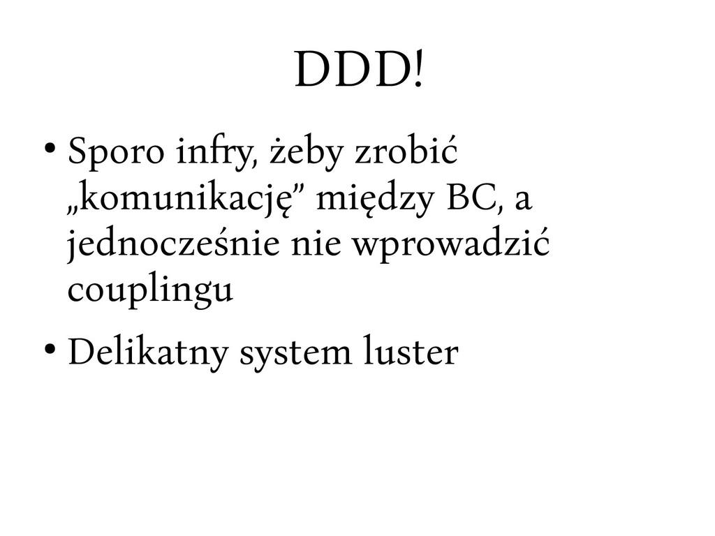 """DDD! ● Sporo infy, żeby crobić """"komunikację"""" mi..."""