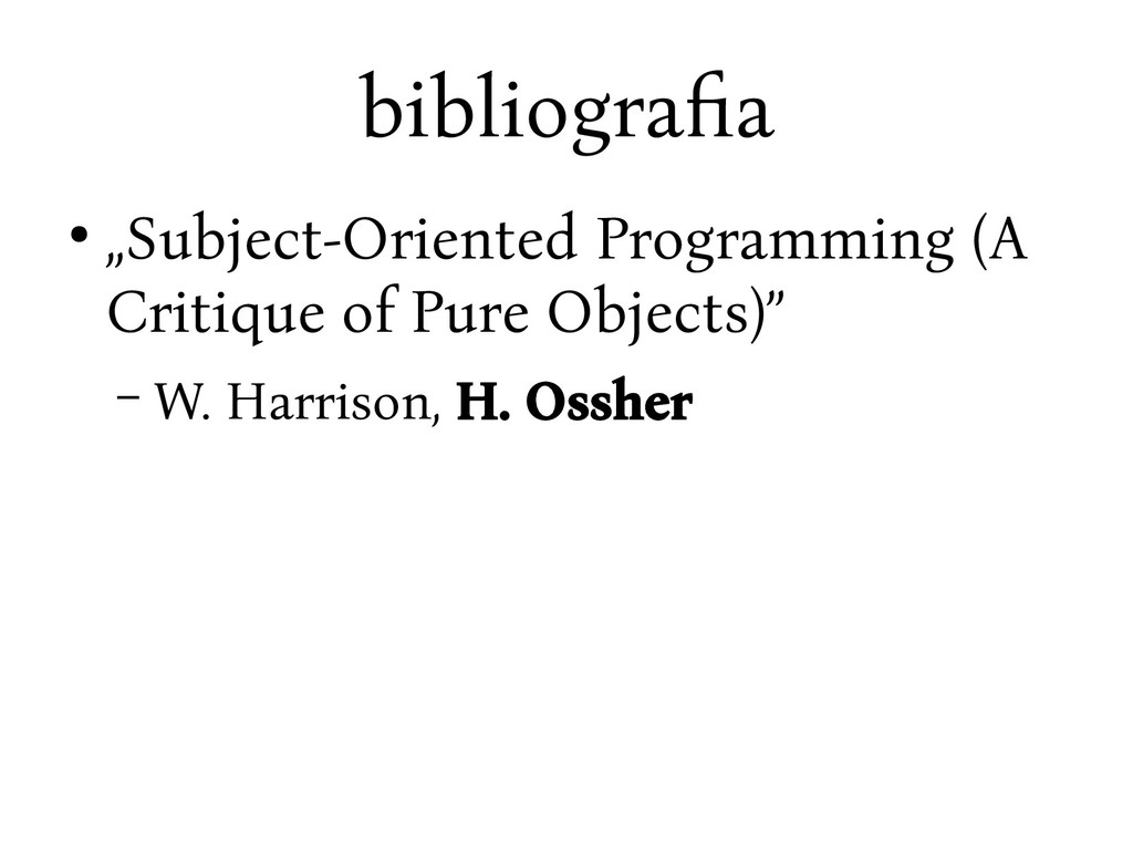 "bibliograya ● ""Subject-Oriented Programming (A ..."