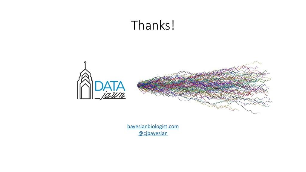 Thanks! bayesianbiologist.com @cjbayesian