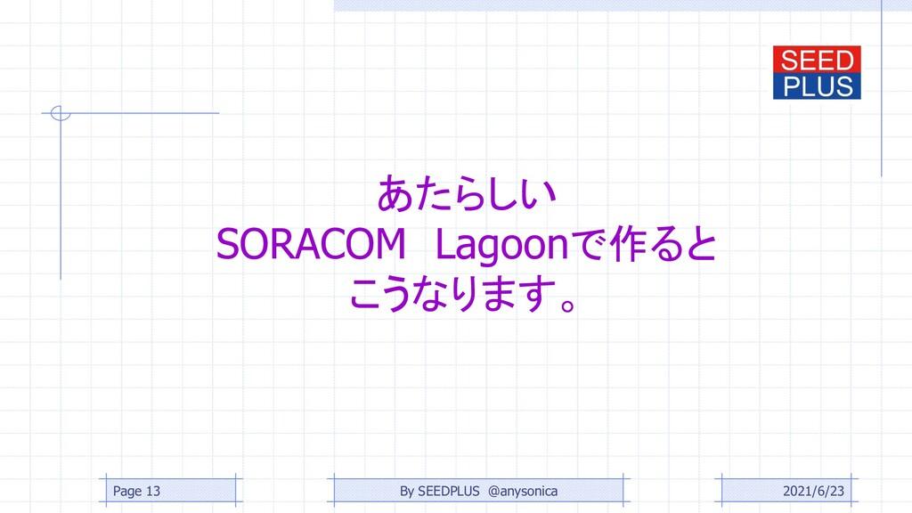 あたらしい SORACOM Lagoonで作ると こうなります。 2021/6/23 Page...