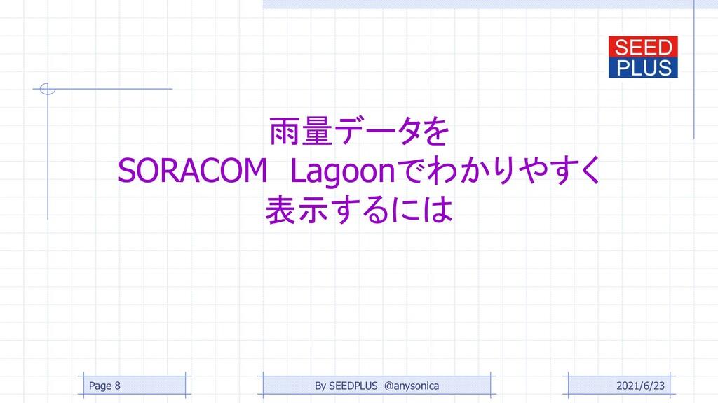 雨量データを SORACOM Lagoonでわかりやすく 表示するには 2021/6/23 P...