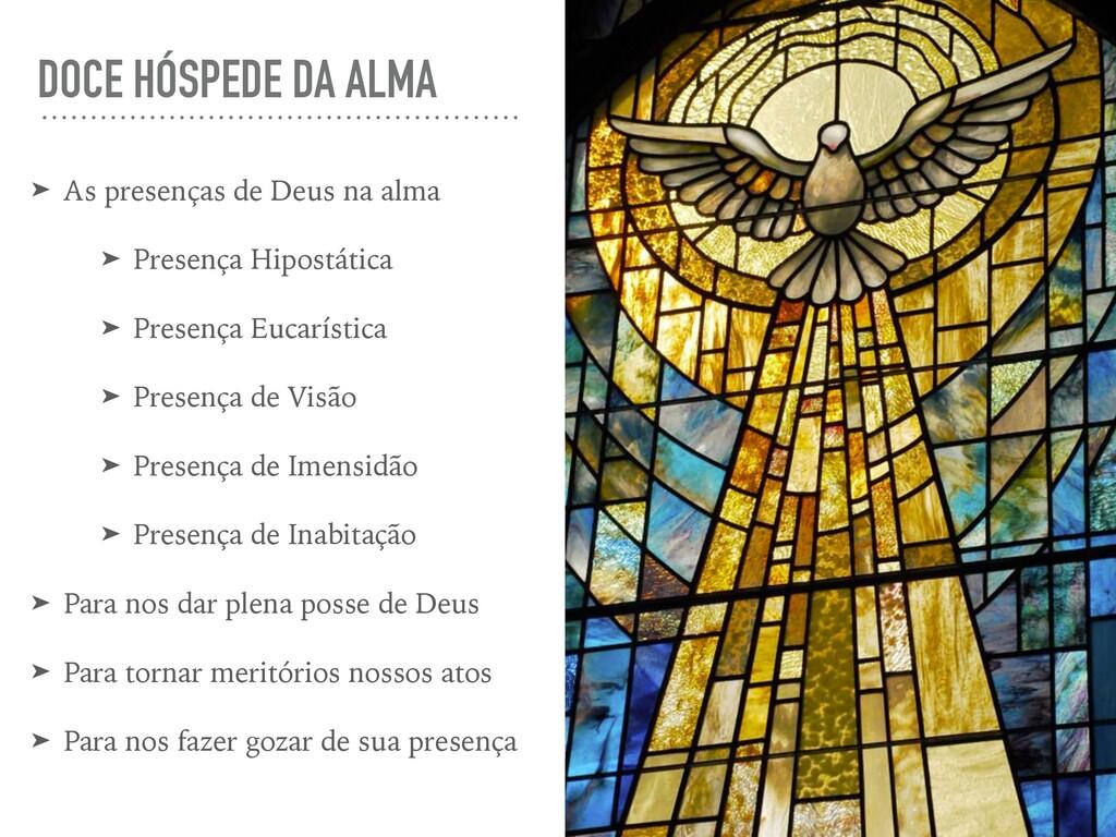 DOCE HÓSPEDE DA ALMA ➤ As presenças de Deus na ...