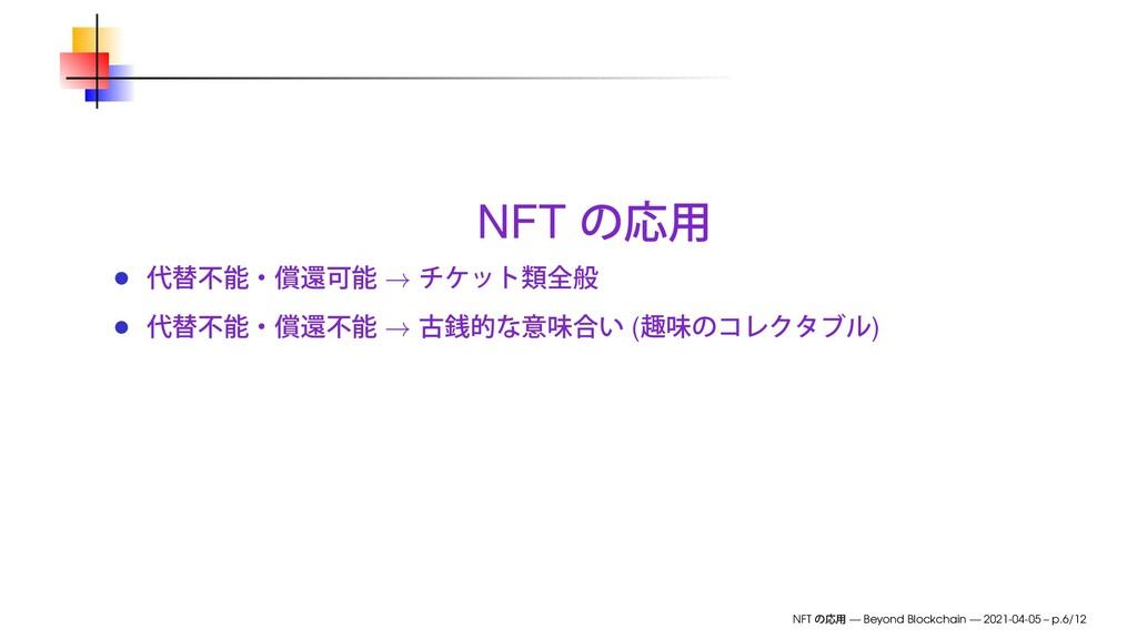 NFT → → ( ) NFT — Beyond Blockchain — 2021-04-0...
