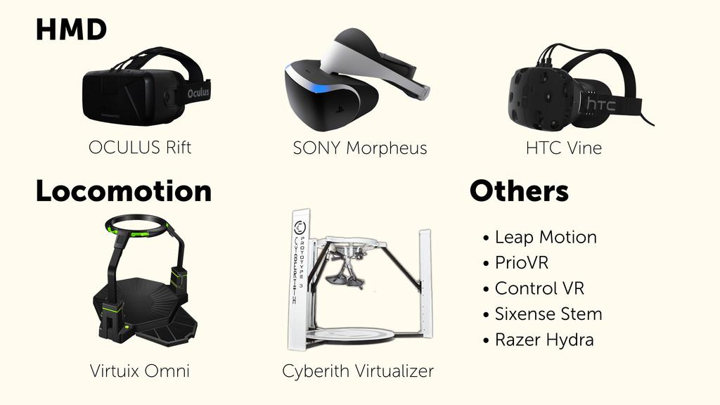 Virtuix Omni Locomotion HMD Cyberith Virtualize...
