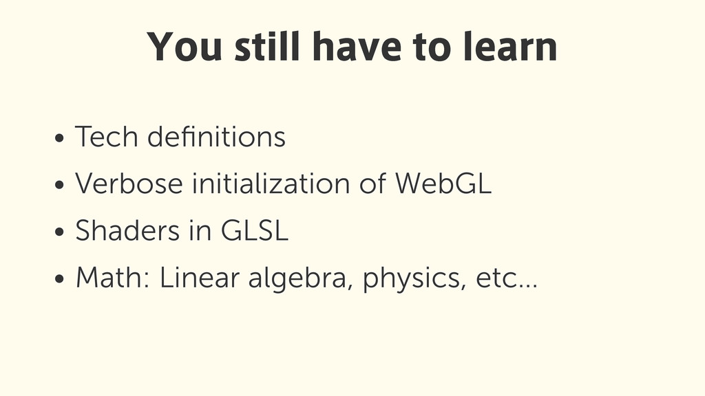 • Tech definitions • Verbose initialization of W...