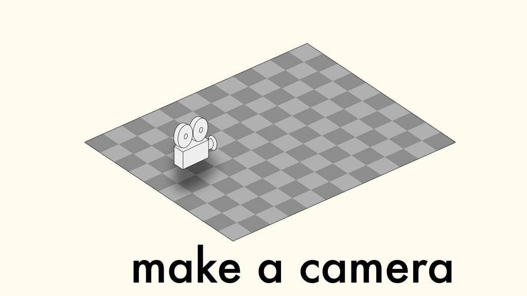 make a camera