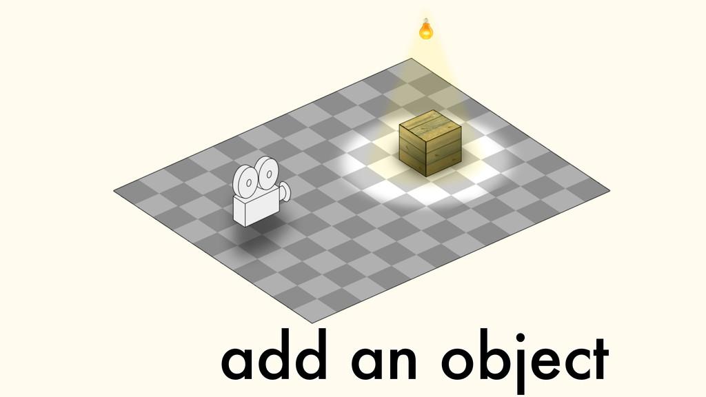 add an object