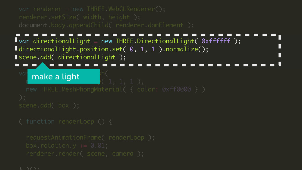 ! var renderer = new THREE.WebGLRenderer(); ren...