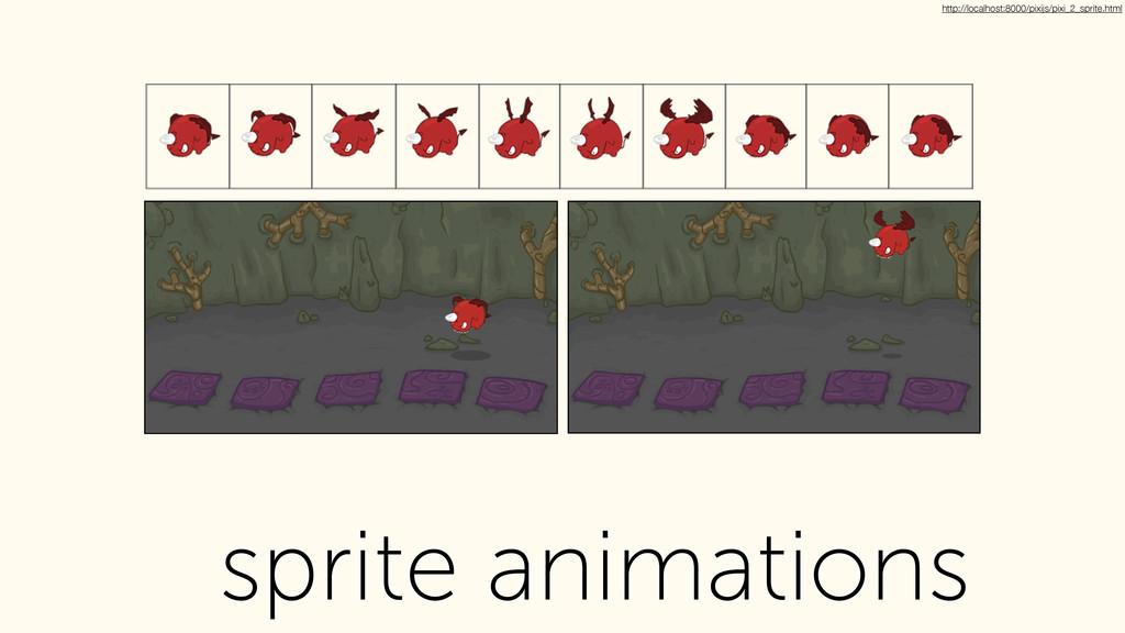sprite animations http://localhost:8000/pixijs/...