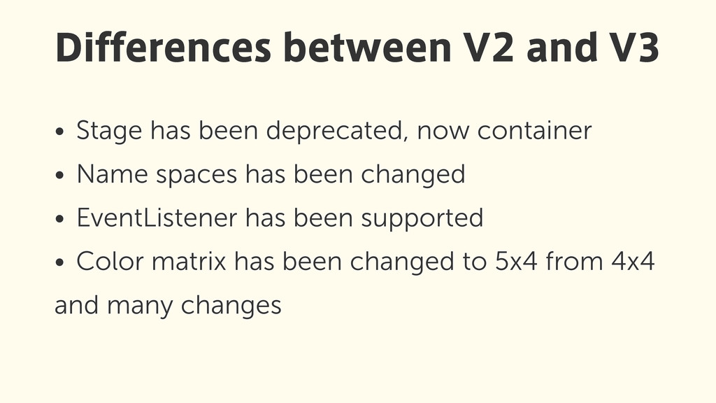 • Stage has been deprecated, now container • Na...