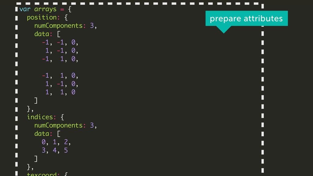 ! var arrays = { position: { numComponents: 3, ...