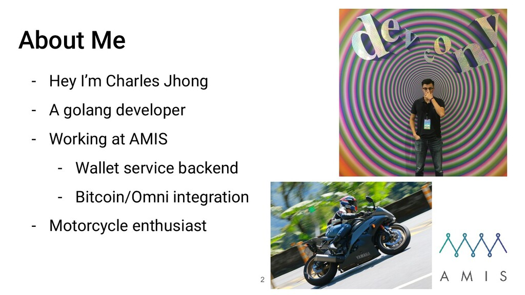 About Me - Hey I'm Charles Jhong - A golang dev...