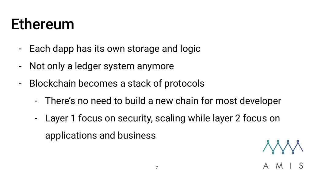 Ethereum - Each dapp has its own storage and lo...