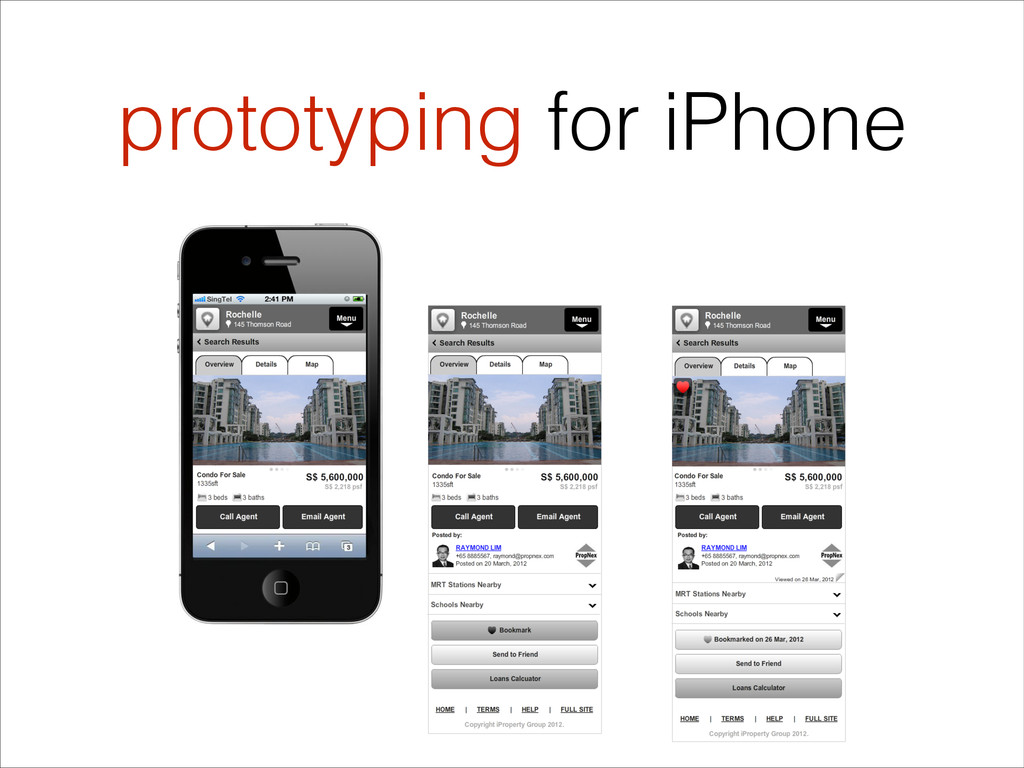 prototyping for iPhone